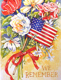 We Remember Garden Flag 12.5x 18