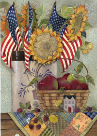American Sunflowers Flag 28x40
