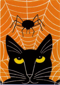Cat & Spider Garden Flag 12.5x18