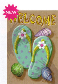 Flip Flop Welcome Flag 28x40