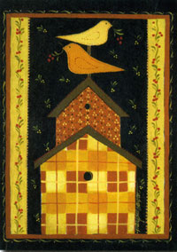 Quilted Birdhouse Flag 28x40