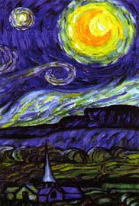 Van Gogh's Starry Night Flag 28x40