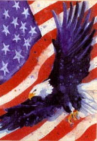 Liberty Eagle Flag 28x40