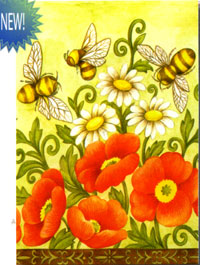Bees & Wildflowers Flag 28x40