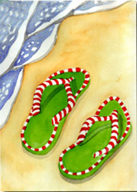 Holiday Flip Flops Garden Flag 12.5x18